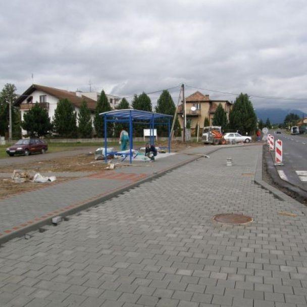 Rekonštrukcia autobusovej zastávky - september 2008