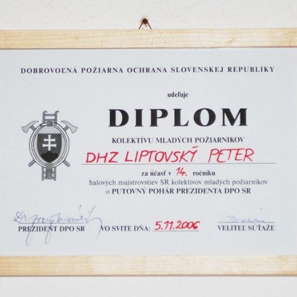 Diplomy, čestné uznania a ďakovné listy (2013)